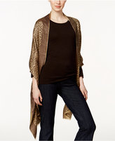 MICHAEL Michael Kors Leopard Jacquard Wrap, Only at Macy's
