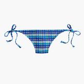 J.Crew String hipster bikini bottom in Italian puckered plaid