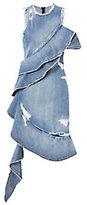 Jonathan Simkhai Asymmetrical Ruffled Denim Dress