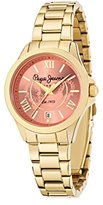 Pepe Jeans Katy Women's Quartz Watch with Red Dial Analogue Display and Gold Stainless Steel Strap R2353114501