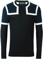 Neil Barrett colour block jumper - men - Merino - M