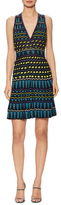 M Missoni V-Neck Metallic Intarsia A-Line Dress