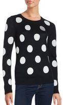 Saks Fifth Avenue RED Polka Dot Intarsia Sweater