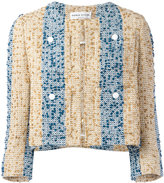 Sonia Rykiel embroidered stripe jacket - women - Cotton/Acrylic/Polyamide/Cupro - 36