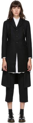Comme des Garçons Comme des Garçons Black Wool Raw Split Coat
