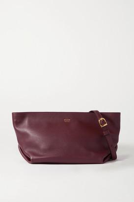KHAITE Adeline Leather Shoulder Bag - Burgundy