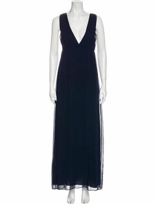 Alice + Olivia Silk Long Dress w/ Tags Blue