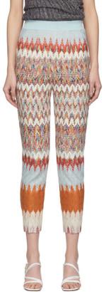 Missoni Multicolor Knit Chevron Trousers