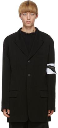 Yohji Yamamoto Black Peak Sleeve Blazer