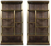 One Kings Lane Set of 2 Beacon Bookcases - Walnut