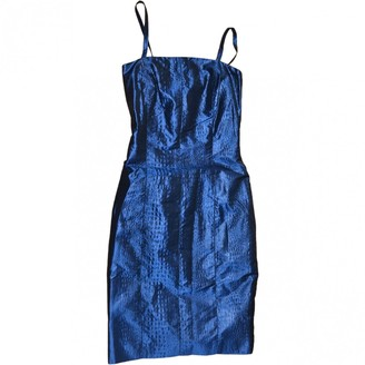 Aspesi Blue Silk Dress for Women