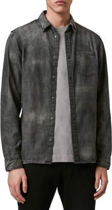 AllSaints Garforth Slim Fit Snap Chambray Shirt