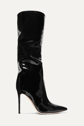 Gianvito Rossi 105 Patent-leather Knee Boots - Black