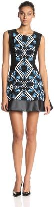MinkPink Women's Kaleidoscope Girl Print Fit and Flare Dress
