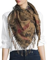 Burberry Sketchbook Scribble Mega Check Scarf