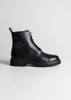 And other stories Lace-Up Leather Boots