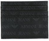Armani Jeans logo print cardholder - men - Polyurethane - One Size