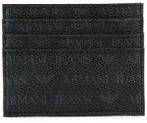 Armani Jeans logo print cardholder