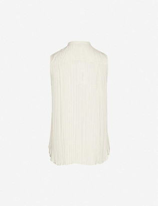 Vince High-neck sleeveless woven shirt