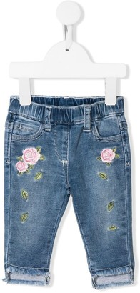 MonnaLisa Embroidered Rose Jeans