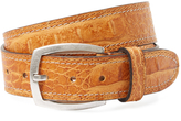 Berge Men's Contrast Stitch Leather Belt