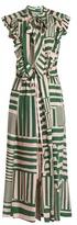 Preen by Thornton Bregazzi Willa geometric-print silk midi dress