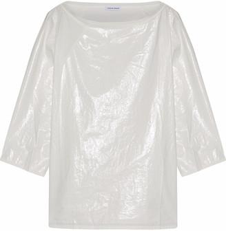 Tomas Maier Paneled Coated Cotton-poplin Top