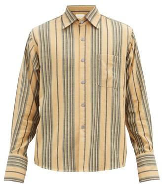 Marrakshi Life - French-cuff Striped Cotton-blend Shirt - Beige Multi