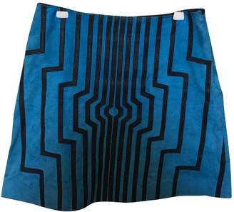 Loewe Blue Suede Skirt for Women
