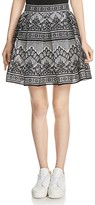 Maje Jour Bonded-Lace Skirt