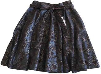 Roberto Cavalli Brown Velvet Skirt for Women