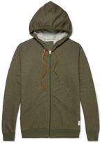 Paul Smith Mélange Cotton-jersey Zip-up Hoodie - Green