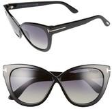 Tom Ford Women's Arabella 59Mm Cat Eye Sunglasses - Black/ Polar Gradient Smoke