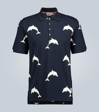 Thom Browne Dolphin printed polo shirt