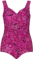 Maxine Of Hollywood Plus Size Paisley print swimsuit
