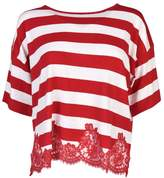 Ermanno Scervino Striped Lace T-Shirt