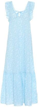 Ganni Floral cotton-voile maxi dress