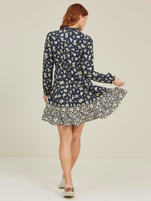 Fat Face Arianna Summer Daisies Dress - Navy
