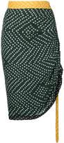 Kitx polka dot gather skirt