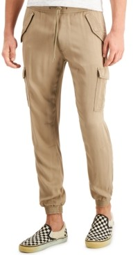 Sun + Stone Men's Slim-Fit Cargo Jogger Pants, Created for Macy's