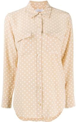 Equipment Polka-Dot Silk Shirt