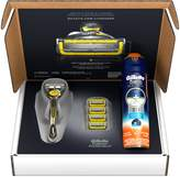 Gillette Fusion ProShield Bundle With 4 ProShield Razor Blade Refills + 1 ProShield Handle with FlexBall Technology + ProGlide Sensitive Shave Gel 6oz, 1 kit