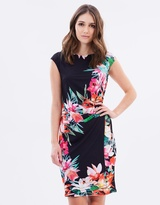 Wallis Neon Tropical Wrap Dress
