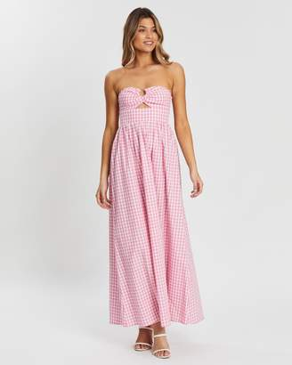 Atmos & Here Ella Strapless Maxi Dress
