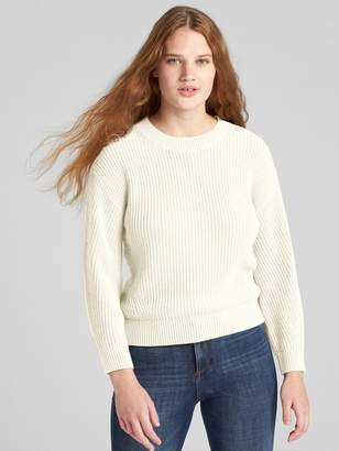 Gap Shaker Stitch Crewneck Pullover Sweater