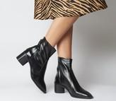 Office Achilles Unlined Block Heels Black Leather
