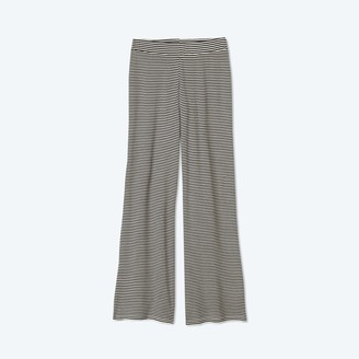 Summersalt The Softest Ribbed Wide Leg Lounge Pant - Sea Urchin & Oatmeal Stripe