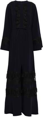 Self-Portrait Self Portrait Tiered Bow-embellished Crepe Gown