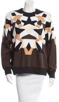 Givenchy Crew Neck Geometric Sweatshirt