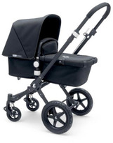 Bugaboo Complete CAMELEONé Puchair With Black Frame, Imitation Leather Handfuls & Black Base